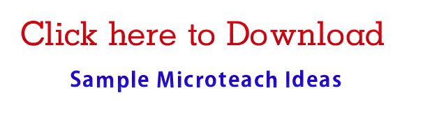 15 Mins Micro Teach Ideas Micro Teach Lesson Plan