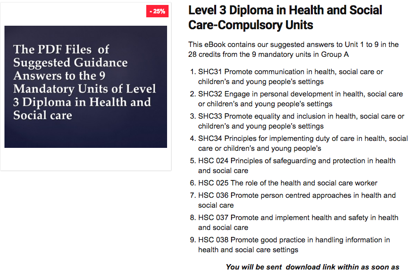 level 2 diploma in health and social care unit 4222 233 Level 2 diploma in health and social care □ level 3  their unit achievement  counted towards the diploma via recognised prior learning (rpl) at the.